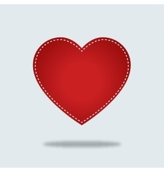 Red heart Icon with stiches vector image vector image