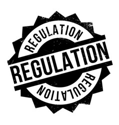 regulation rubber stamp vector image vector image