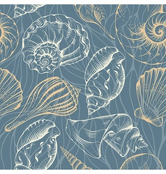 Shell seamless pattern vector image
