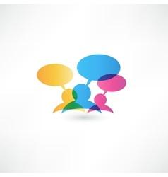 Talk concept speech bubbles vector image vector image
