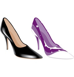 fashion shoes vector image vector image