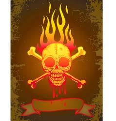 Skull fire vector image vector image