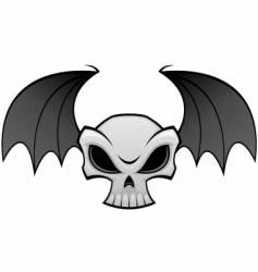 Batwing skull vector