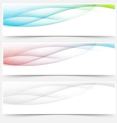 Bright web headers footers wave swoosh vector image vector image