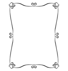 calligraphy ornamental decorative frame with heart vector image vector image