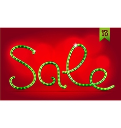 Christmas Sale lettering vector image