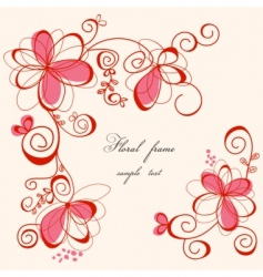 cute floral frame vector image vector image