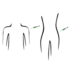 Inoculation for people vector image vector image