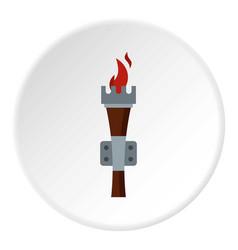 torch icon circle vector image