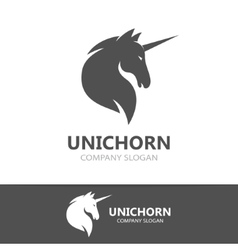 unicorn logo template vector image vector image
