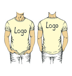 white t-shirt template vector image