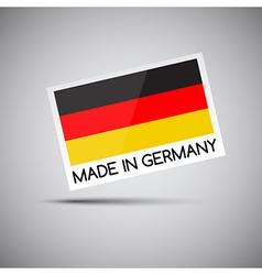 card Made in Germany with German flag vector image vector image