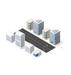 city boulevard isometric vector image