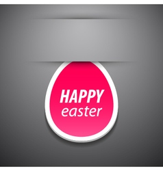 Happy easter pink tag vector image vector image