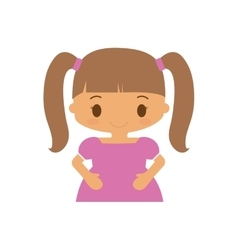 happy girl character avatar vector image vector image