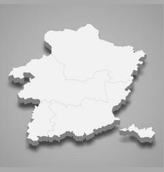 3d map limburg is a province belgium vector