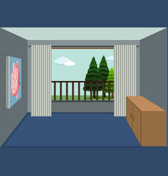 a design of empty apartment room vector image