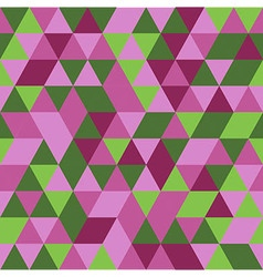 Abstract pink green triangle seamless background vector