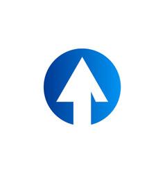 arrow up icon abstract logo vector image