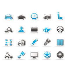 auto service and car part icons vector image