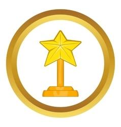Award star icon vector