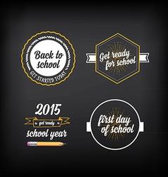 Back to school badges design elements vector