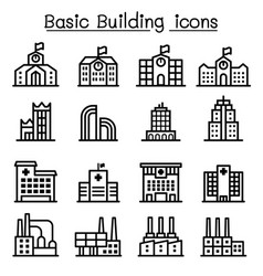 Basic building icon vector