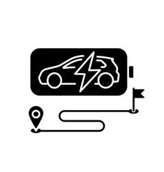 Battery range black glyph icon vector