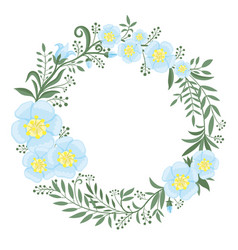 Beautiful wreath flowers and plants vector