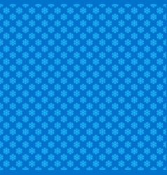 blue seamless retro stylized snow flake pattern vector image