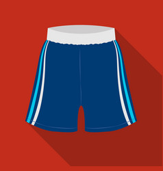 boxing shorts icon in flate style isolated on vector image
