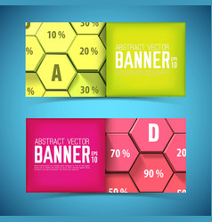 business geometric horizontal banners vector image