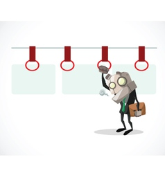 businessman tired vector image