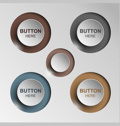 Button sleek brown for web design vector