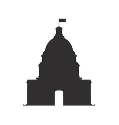 capitol icon vector image