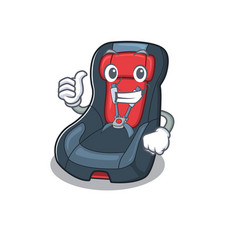 Cheerfully bacar seat making thumbs up gesture vector