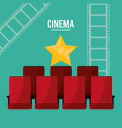 Cinema chairs teather design vector