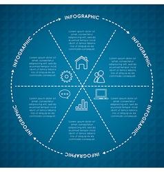 Circular Chart Infographic vector