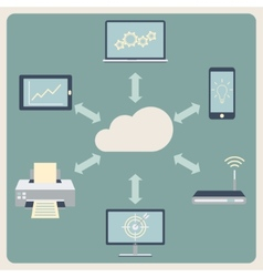 Cloud computing technology Abstract background vector