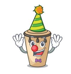 Clown conga mascot cartoon style vector