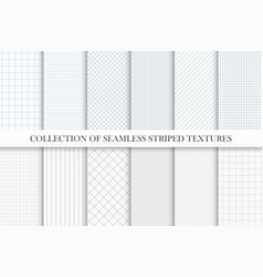 Collection of seamless striped textures vector