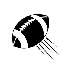 Contour american football and his ball icon vector