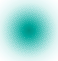 Crossing overlap of halftone green circle vector