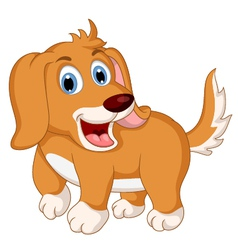 cute little dog cartoon expression vector image
