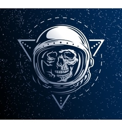 Dead astronaut in a spacesuit vector image