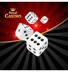 Dice casino design background dice gambling vector