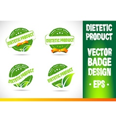 Dietetic product Badge vector image