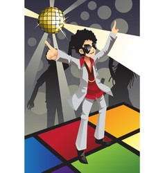 disco man vector image