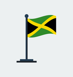 flag of jamaicaflag stand vector image