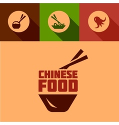 flat chinese food design vector image